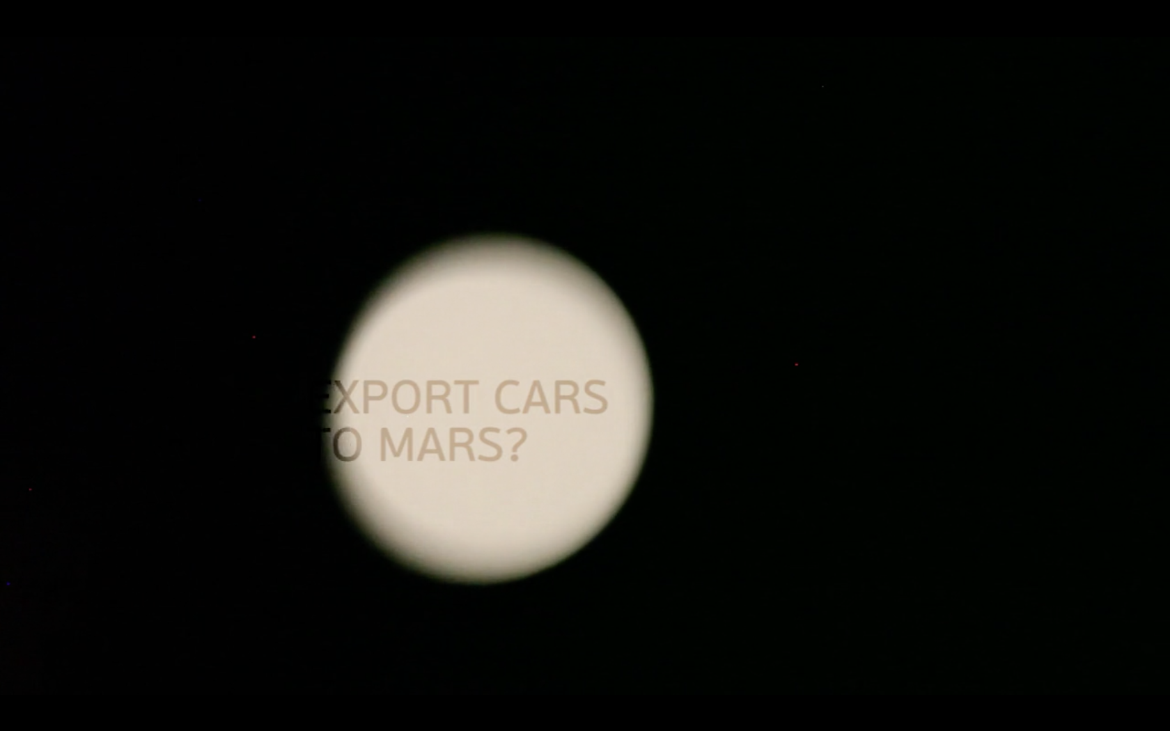Export Cars to Mars